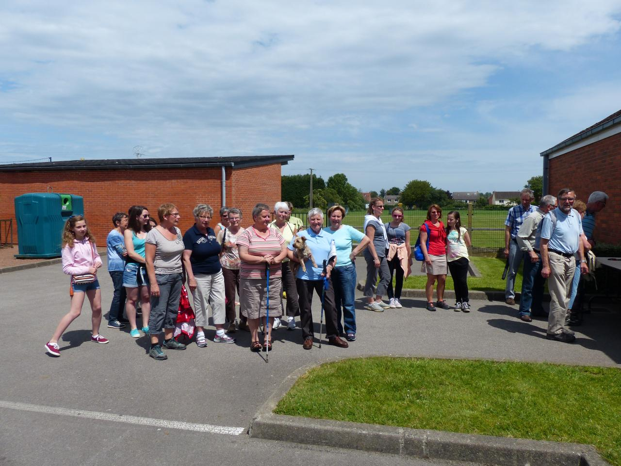 Les participants rallye pédestre