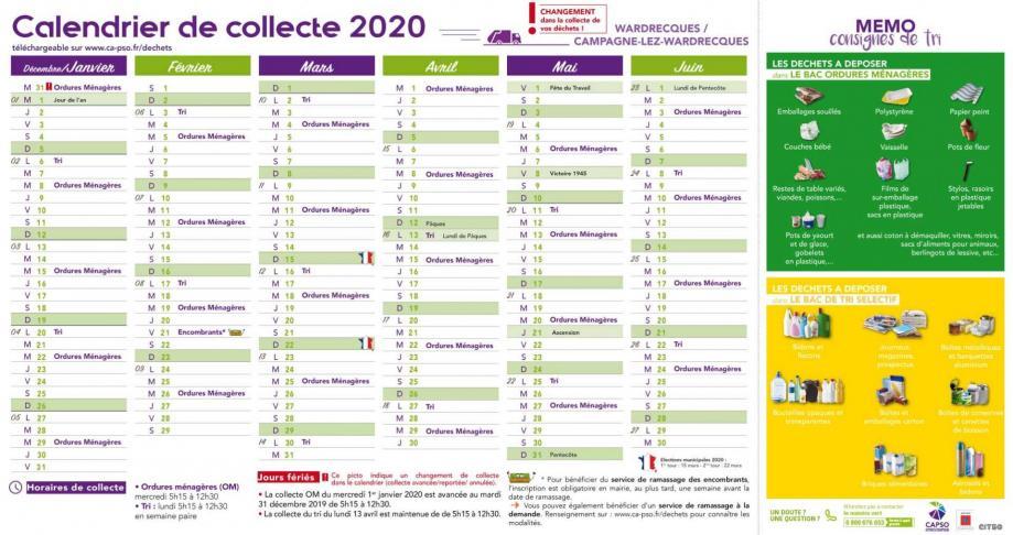 Clw et wardrecques calendrier collecte 1