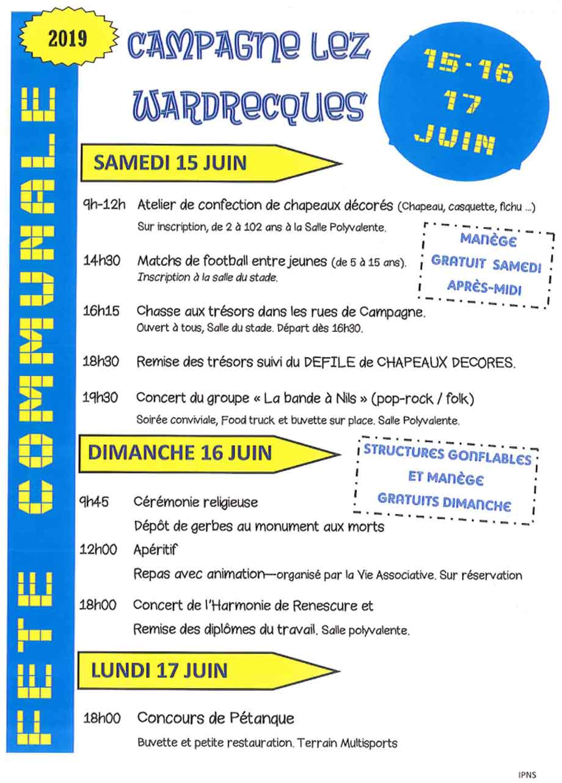 Programme de ducasse