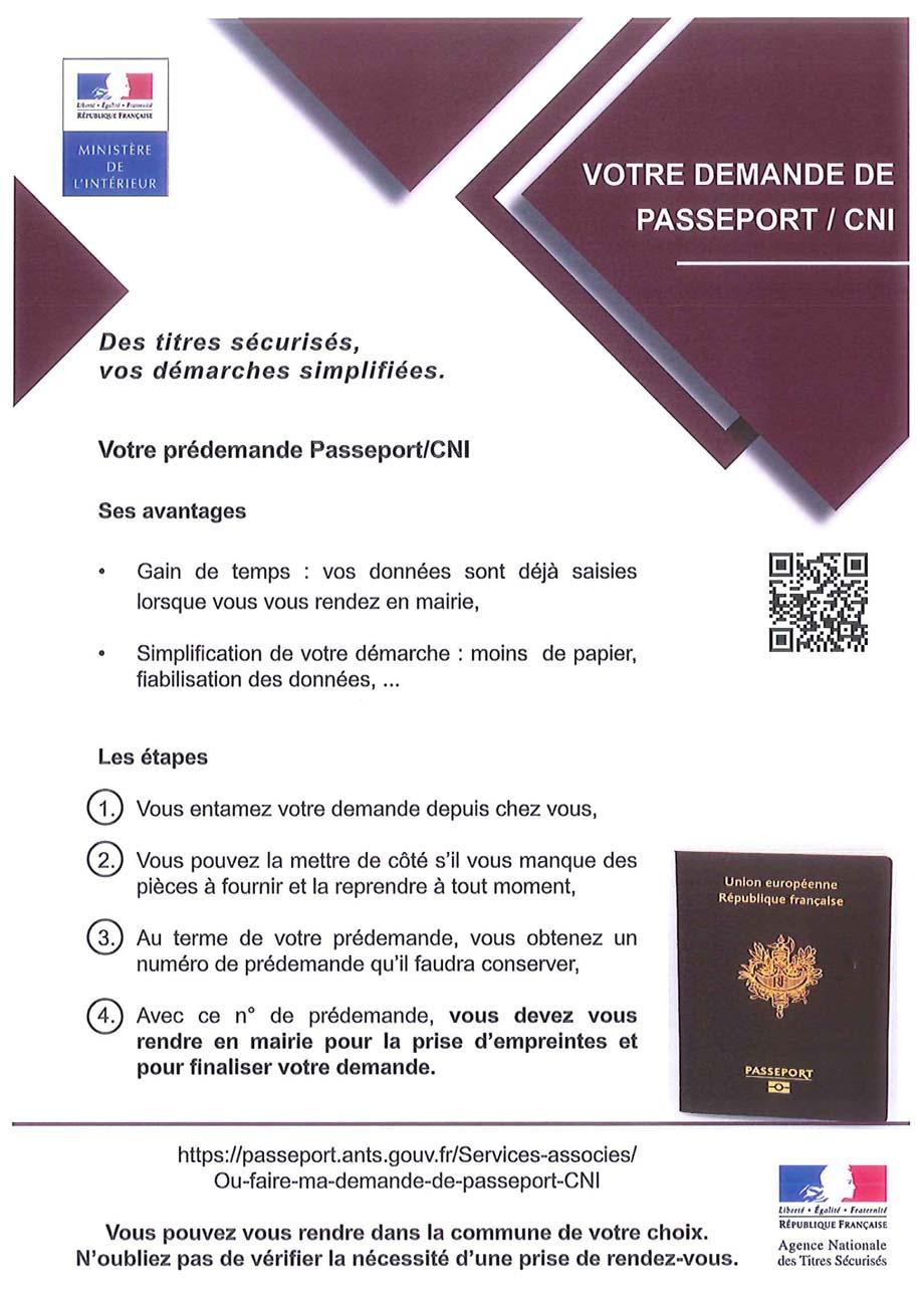 Votre demande de passeport cni